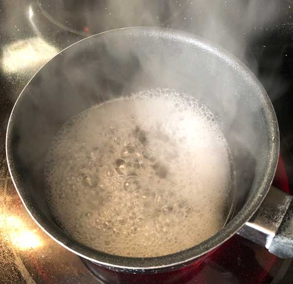 boiling maple sap concentrates the sugars and flavor
